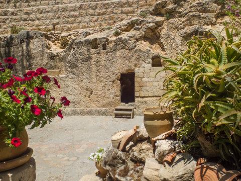 The Garden Tomb, rock tomb in Jerusalem, Israel