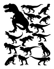 Tyrannosaurus rex silhouette. Good use for symbol, logo, web icon, mascot, sign, or any design you want.