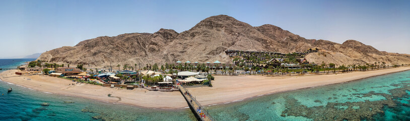 view from the tower of underwater observatory near Eilat in Israel