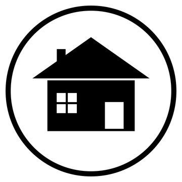 Haus Icon im Kreis