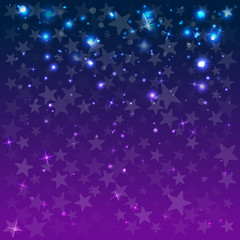 Abstract background with stars. Blue. Decor for the party. Vector illustration.