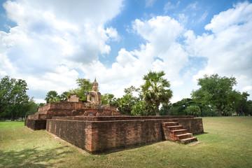 Ancient Buddha in Wat Mae Chon, Sukhothai, Thailand.