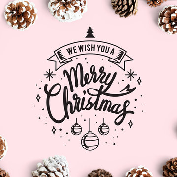 We wish you a Merry Christmas card mockup