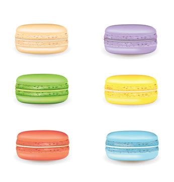 Tasty macaron. vector illustration