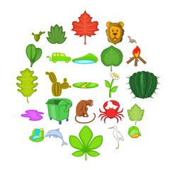 Ecology sustain icons set. Cartoon set of 25 ecology sustain vector icons for web isolated on white background