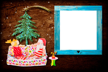Christmas photo frame card