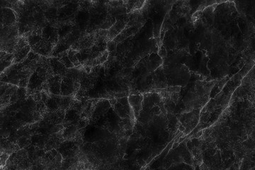 Black marble texture in veins and curly seamless patterns abstract for background