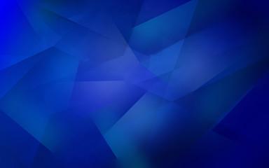 Dark blue abstract polygonal mosaic background
