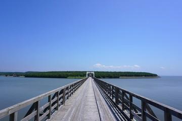 A big bridge over the jusan lake in Aomori prefecture.