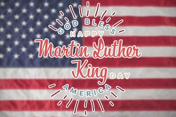 Composite image of happy martin luther king day, god bless