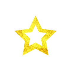 Golden sparkling Christmas Star