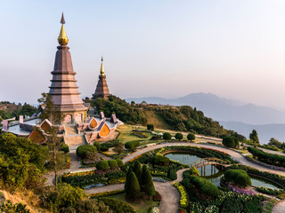 Phra Mahathat. Two chedis - Naphamethinidon and Naphaphonphumisiri, near the summit of Doi Inthanon. These two stupas are dedicated to the recently late king and his wife.