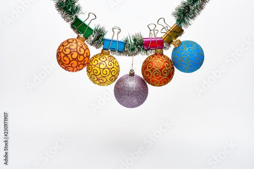 Roman Christmas Ornaments.Christmas Ornaments Concept Balls With Ornaments Hang On