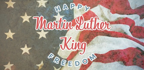 Composite image of happy martin luther king freedom