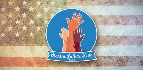 Composite image of martin luther king day with hands