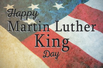 Composite image of happy martin luther king day