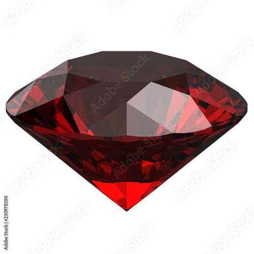 sapphire red Garnet zirconium quartz ruby side view