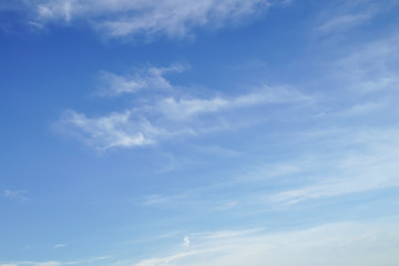 Blue sky with white clouds : background texture