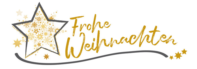 Banner Frohe Weihnachten vektor illustration gold schwarz weiß