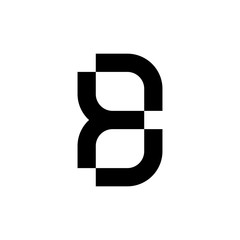 Letter B logo. Icon design. Template elements - vector sign