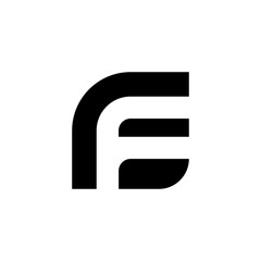 Letter F logo. Icon design. Template elements - vector sign