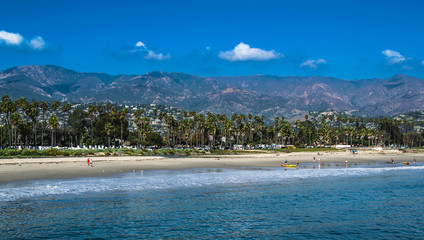 Santa Barbara beach from Stearns Wharf
