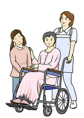 介護 車椅子 家族