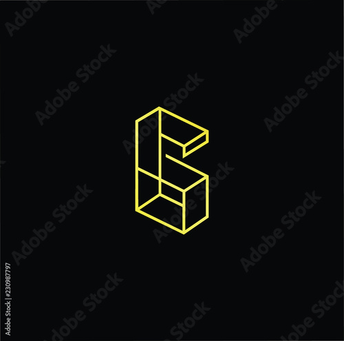 01b46c5501 Initial letter G GG minimalist art logo, gold color on black background.