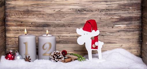 2.ter Advent Kerze Lichter