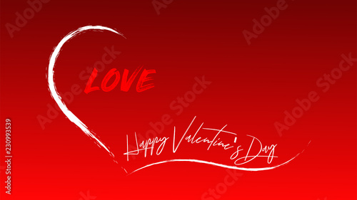 Happy Valentine S Day Words In A Open Heart Stock Image And