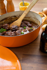Typical Blegian beef stew flemish carbonades