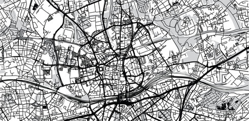 Urban vector city map of Essen, Germany