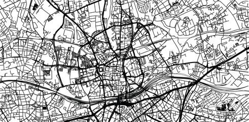 Urban vector city map of Essen, Germany