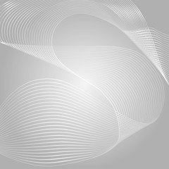 Wave of the many colored lines. Abstract wavy stripes on a white background isolated. Creative line art. Vector illustration EPS 10. Design elements created using the Blend Tool. Curved smooth tape