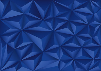 Abstract blue polygon triangle pattern design modern futuristic background vector illustration.