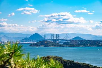 鷲羽山第二展望台からの風景 The view from viewing platform of Mt. Washuzan in Kurashiki city, Okayama pref,  Japan
