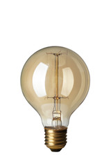 Retro light bulb on white background