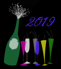 New Year 2019 Champagne