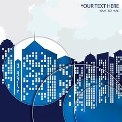 City background, business building. infrastructure. Observation Vector illustration