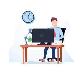Businessman hardworking icon vector. Businessman working brainstorming process hardworking procession generation concept