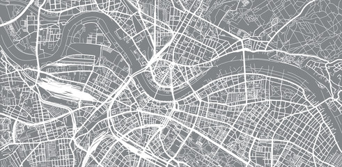 Urban vector city map of Dresden, Germany