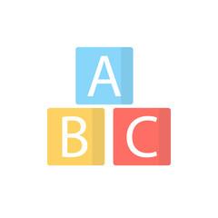 alphabet cubes flat icon