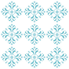 Vector abstract seamless pattern. Geometric background. Can be used for gingham background, cover, print on tile, web, banners, wallpaper, wrapping paper. EPS10. Floral ornate.