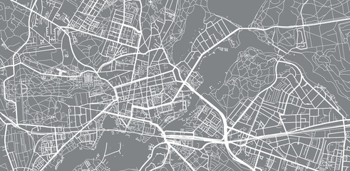 Urban vector city map of Potsdam, Germany