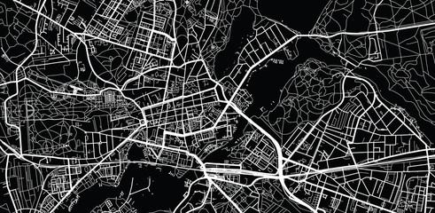 Urban vector city map of Potsdam, Germany