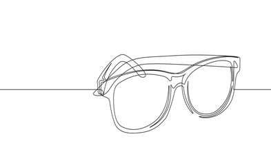 Sunglasses Continuous Line Vector Graphic