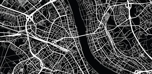 Urban vector city map of Bonn, Germany