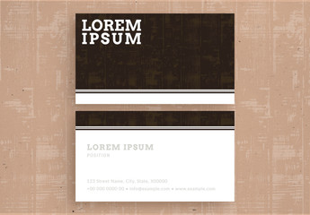 Textured Business Card Layout