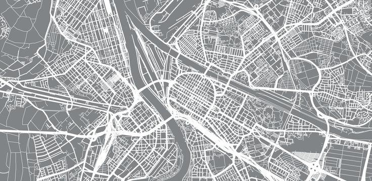 Urban vector city map of Mannheim, Germany