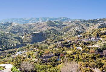 Mountains of Frigiliana in Andalusia